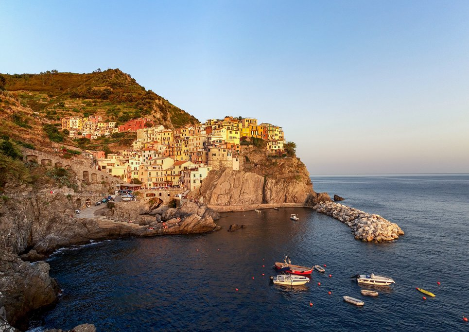 View of the Cinque Terre