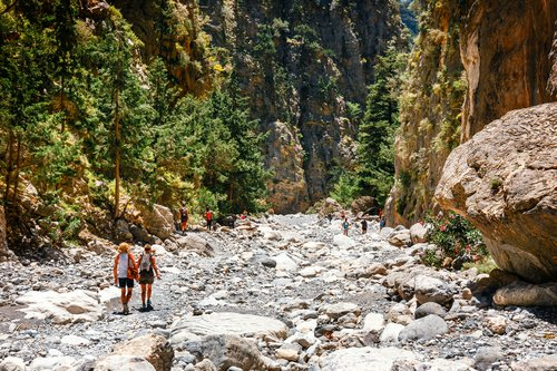 A rocky trail toSamaria Gorge