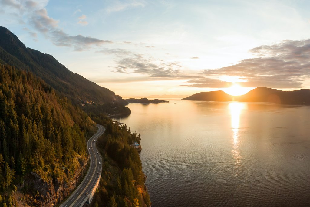 Iconic Sea-to-Sky Highway between Vancouver and Whistler