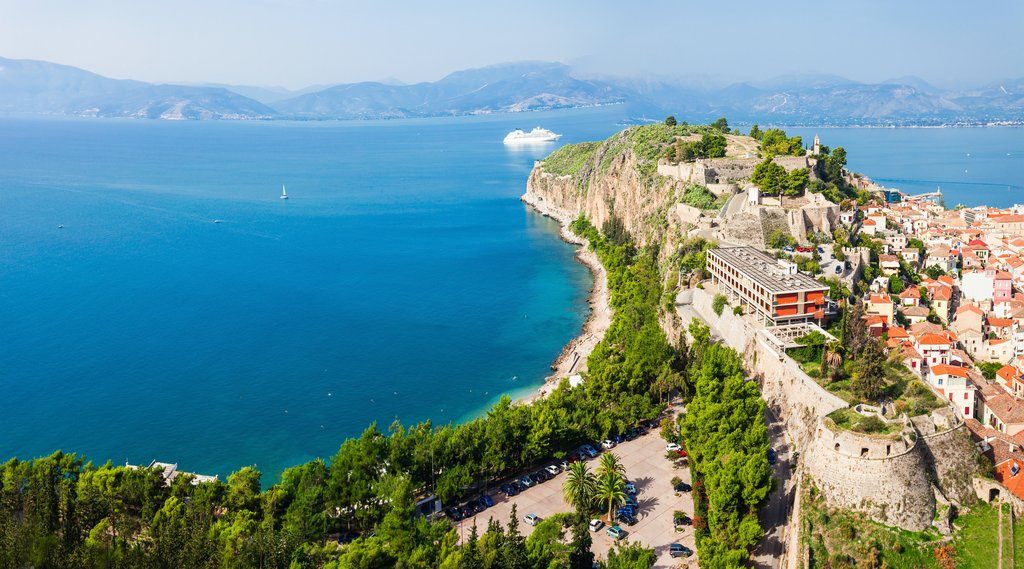 View from Palamidi fortress in the seaport town of Nafplio