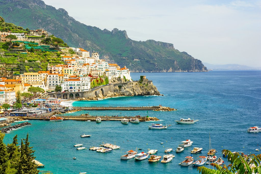 Town of Campania on the Amalfi Coast