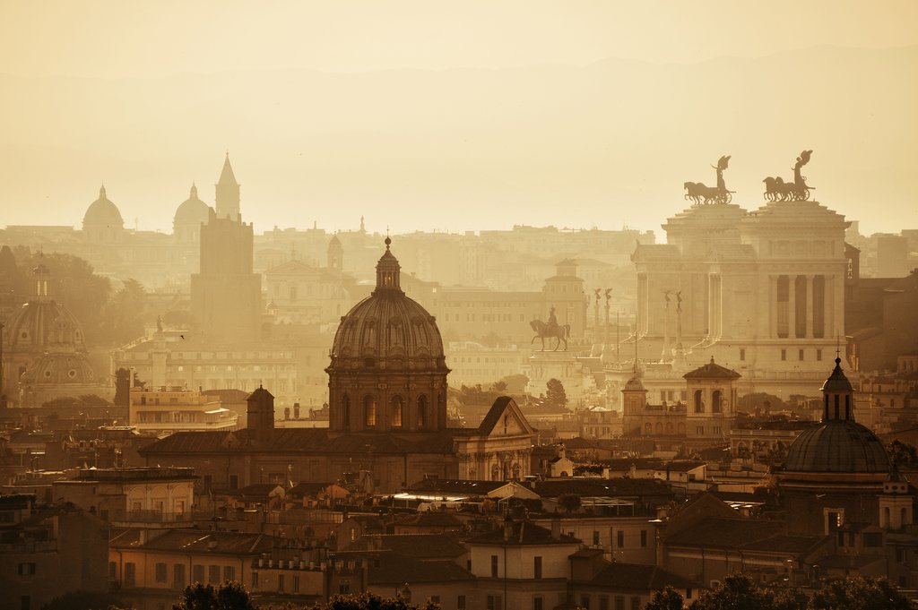 Rome Skyline at Sunrise