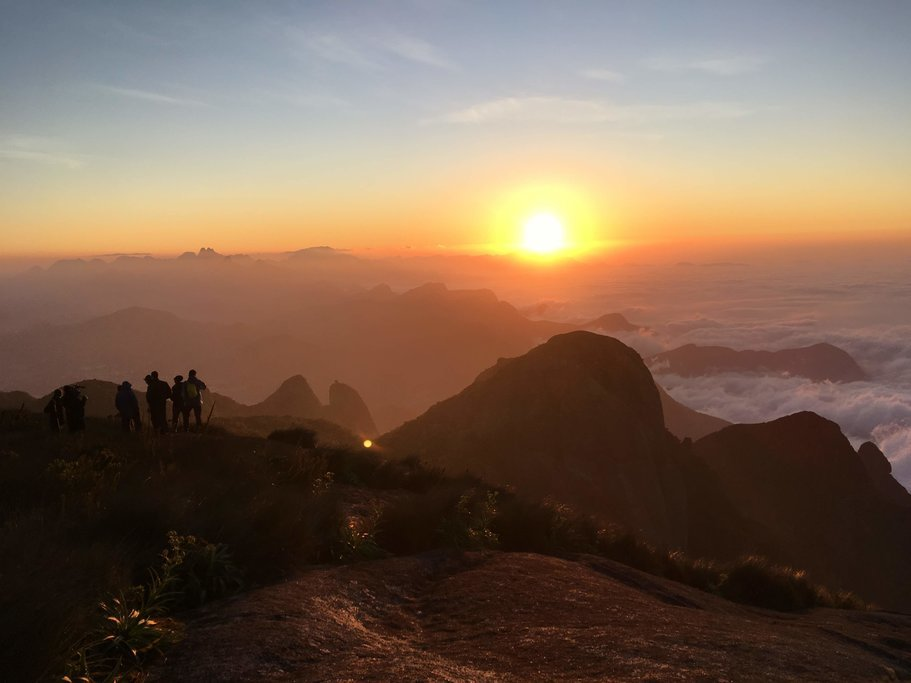 Take in a magnificent sunrise from atop Pedra do Sino