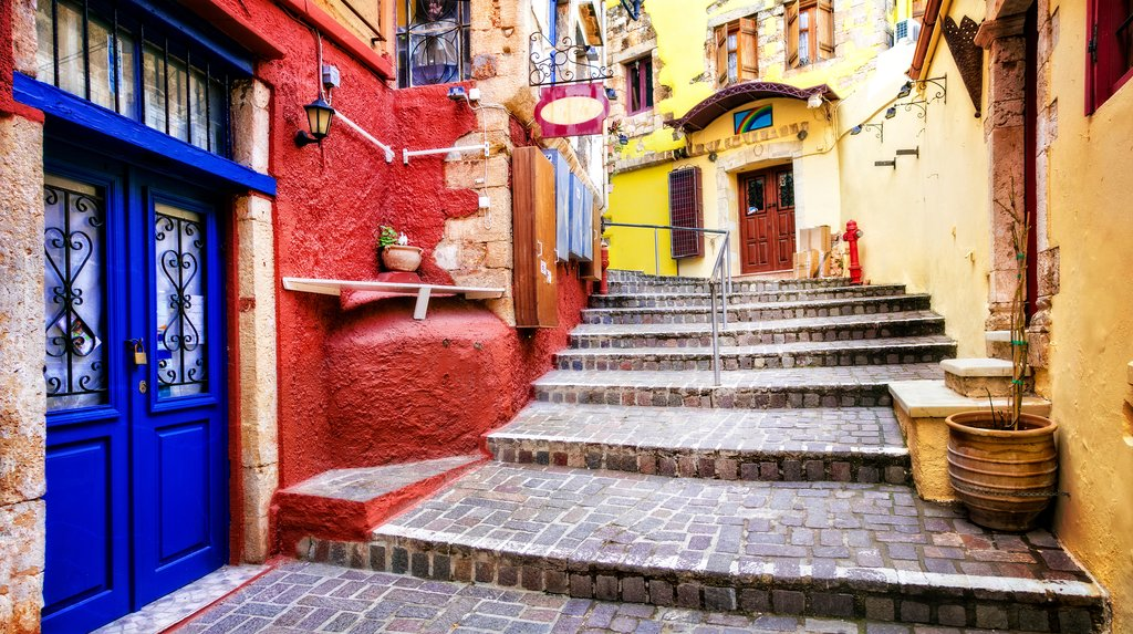 The colorful streets of Chania's Old Town