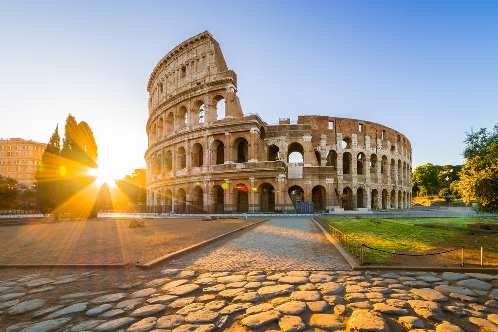 The Colosseum at dawn