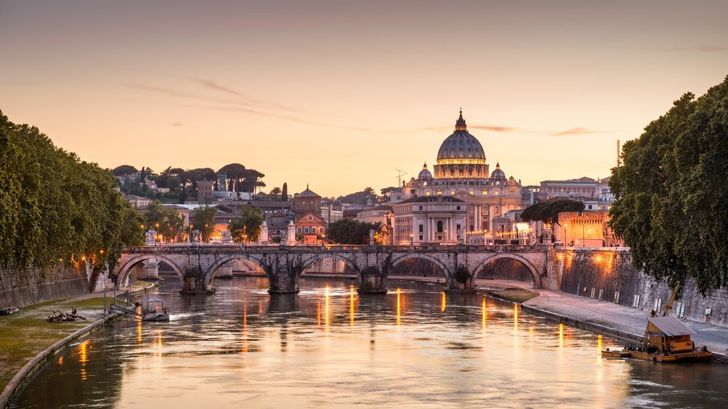 Rome as seen from the Tiber River