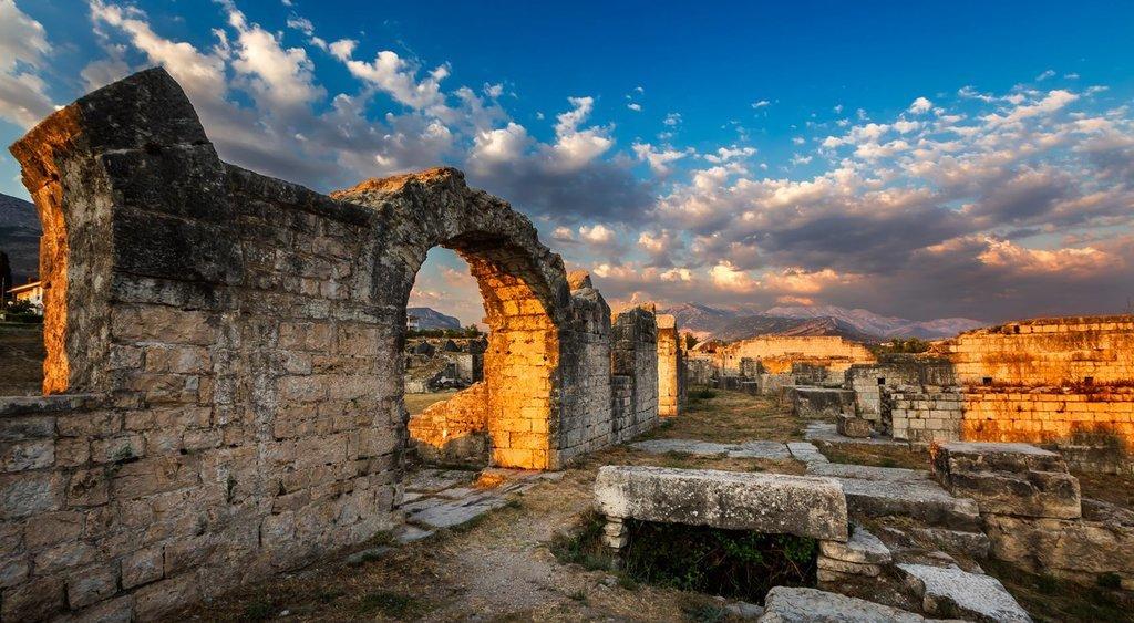 Roman ruins in Salona near Split