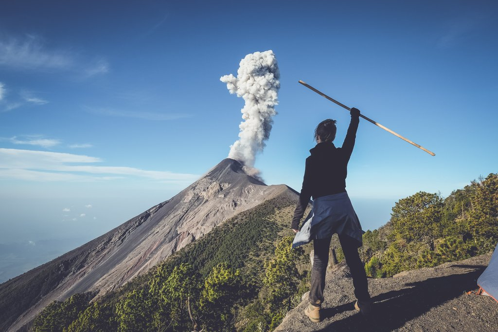 Watch Volcan de Fuego erupt from your campsite on Volcan de Acatenango