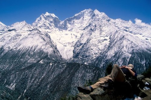 """Ama Dablam (22,349 ft / 6,812 m) translates as """"Mother's necklace"""""""