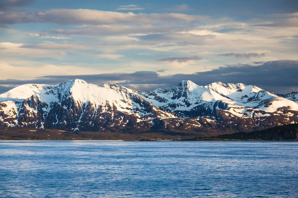 Early snowcapped views of the Altafjord