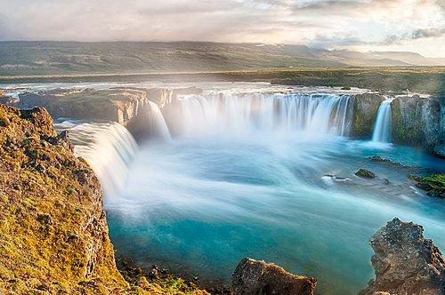 Gulfoss Waterfall on Iceland's north coast