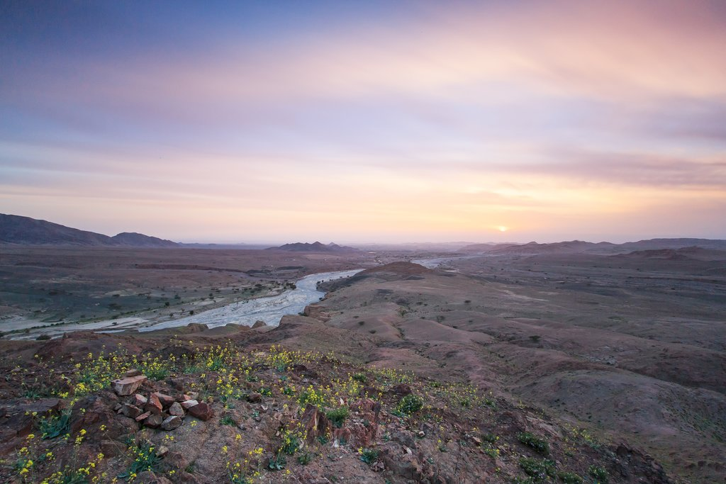 Catch a sunset over the Dana Biosphere Reserve from the Feynan Ecolodge