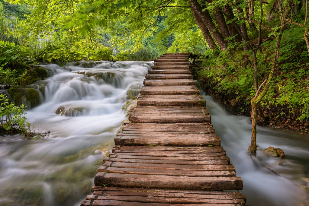 Boardwalks around Plitvice Lakes