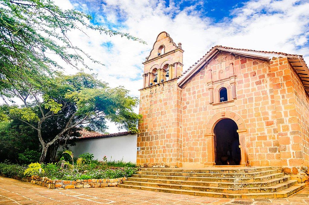 Church of Santa Barbara in Barichara