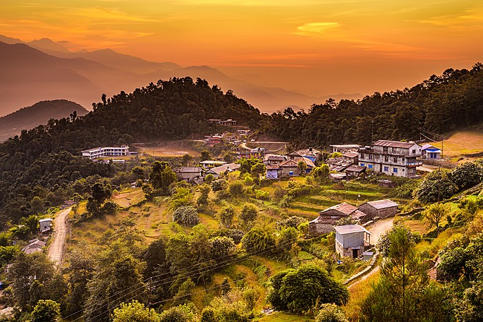 Sunset in the Gurung village of Dhampus