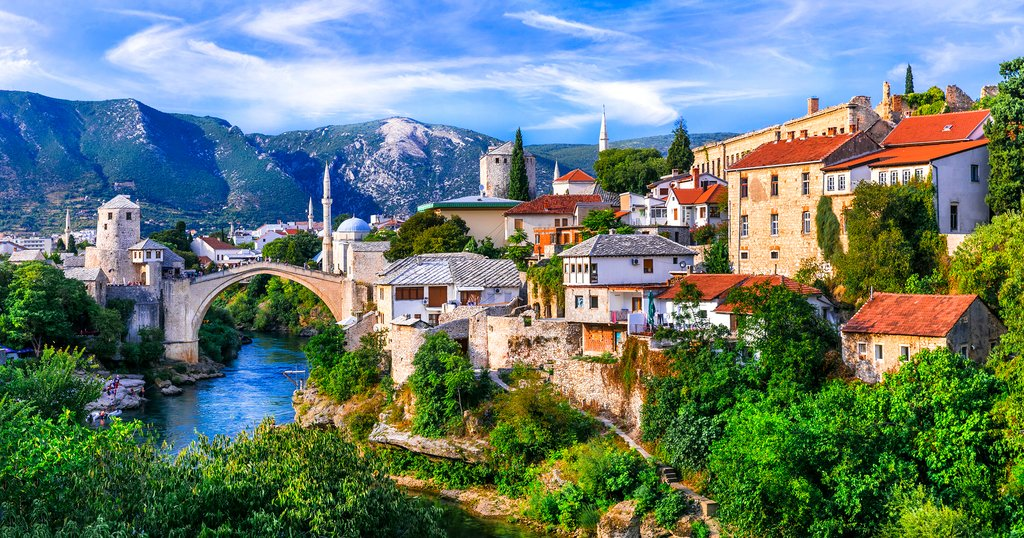 Iconic View of the Old Town of Mostar