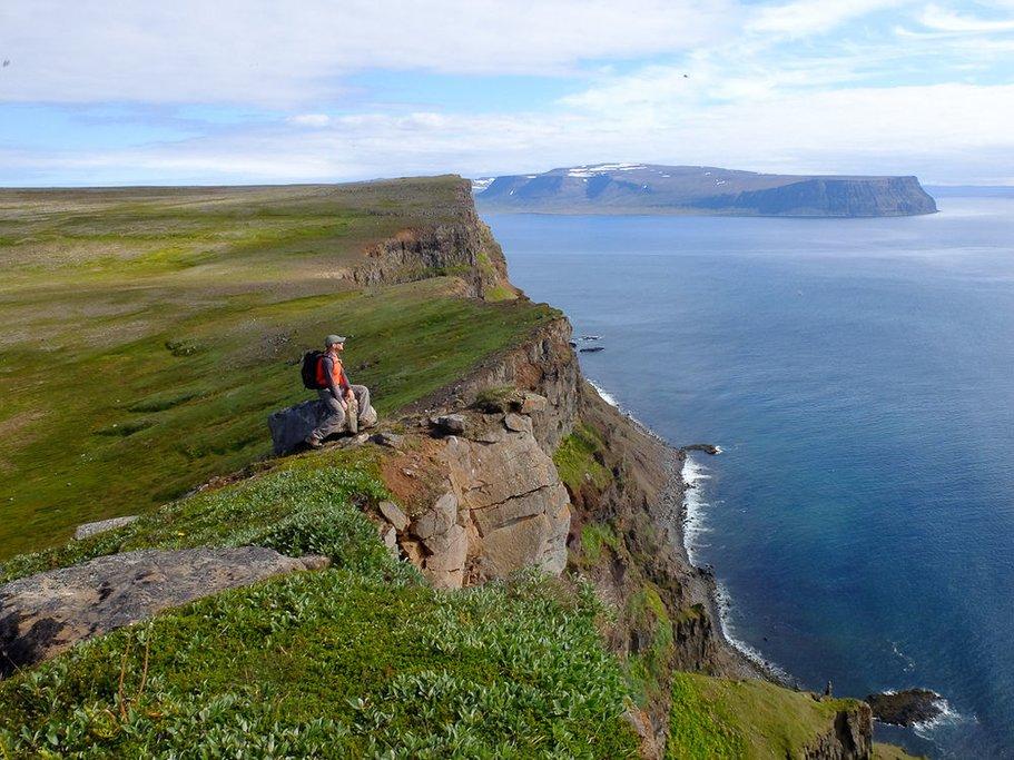 The Green Cliffs of Hornstrandir Nature Preserve (photo by Borea Adventures)
