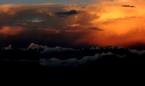 Dusk over the Vilcabamba Range