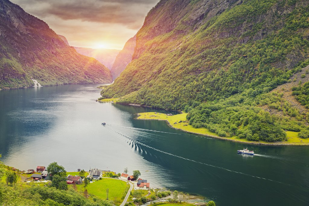 One of many small villages on the Sognefjord.