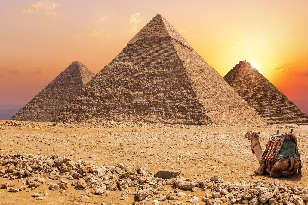 Sunset at the Great Pyramids