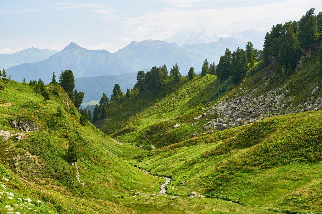 Mountain pass near Monetier-Les-Bains