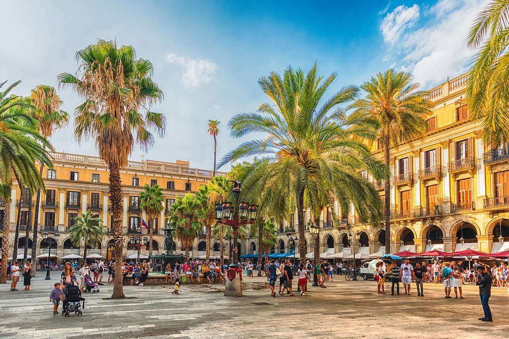 Placa Reial in the Barri Gòtic