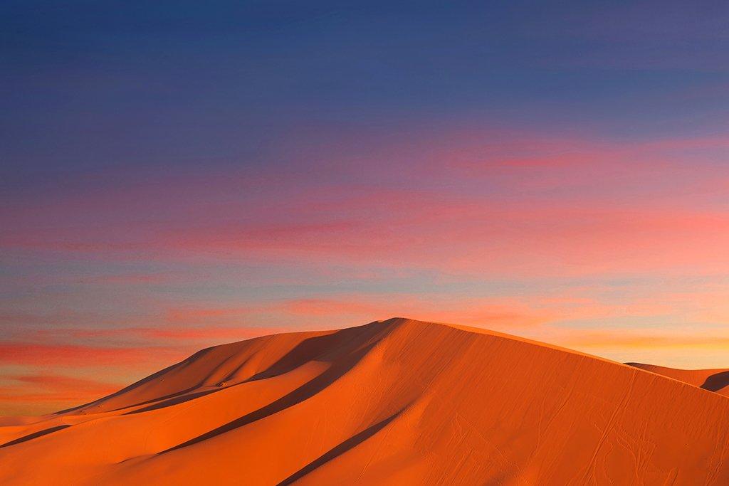 Sand dunes in Erg Chebbi in Sahara desert