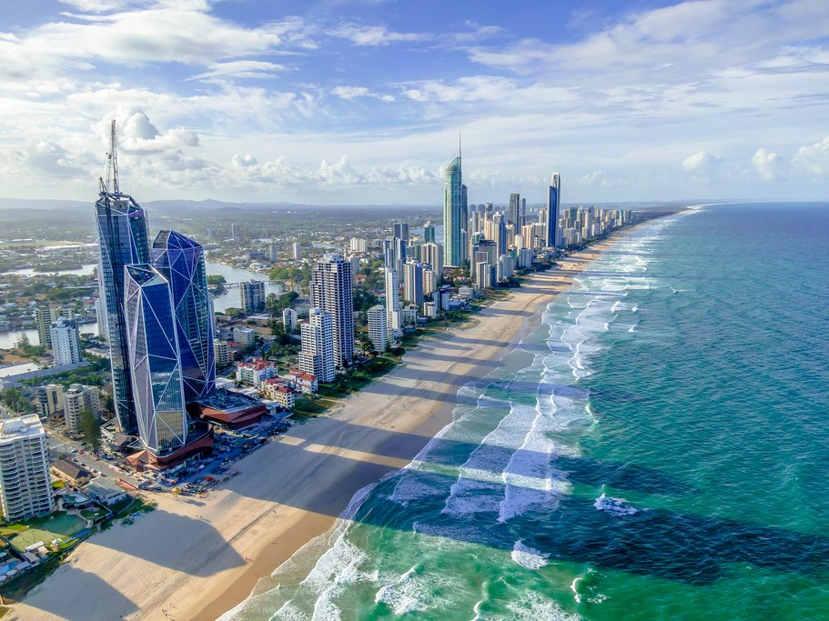 Explore the Gold Coast's extensive coastline