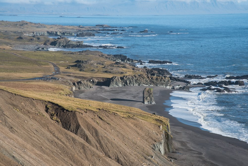 An endless view over Iceland's east coast