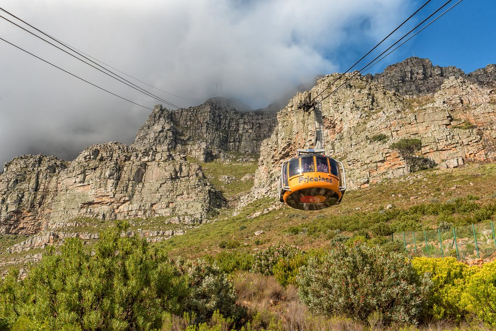 Heading up Table Mountain