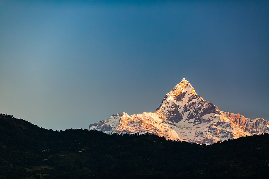 Machapuchare (6993m) at sunset, Annapurna Region