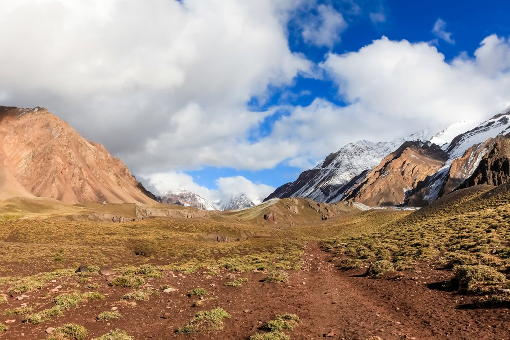 Cross the Aconcagua Mountain with horse assistance