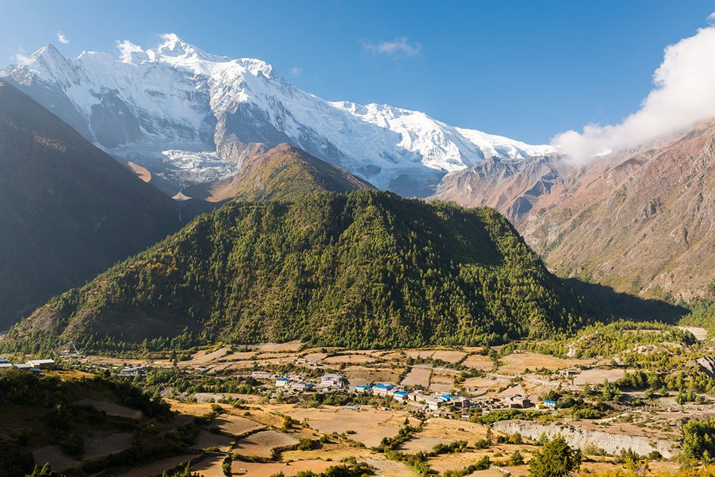 The Annapurna Circuit is known for its beautiful valleys and local villages you pass through along the way