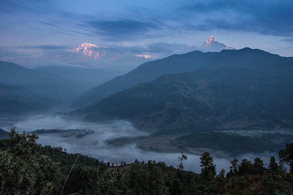 Himalayan views from the Annapurna foothils