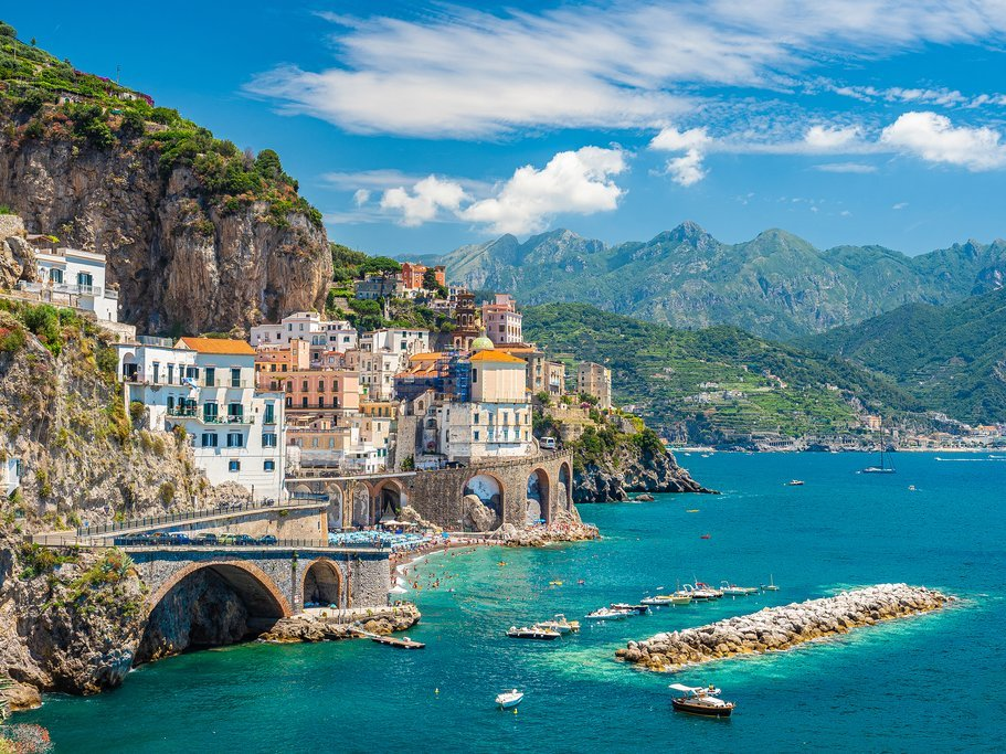 The laid-back beaches on the Amalfi Coast make a wonderful getaway