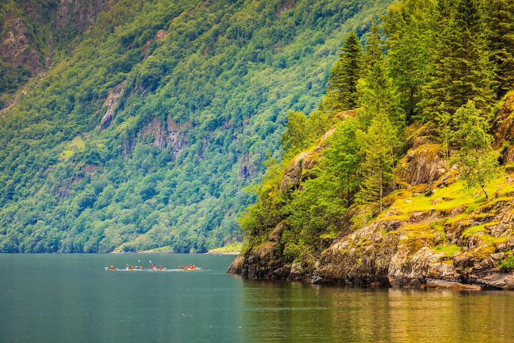 Take in magnificent Sognefjord views from your kayak.