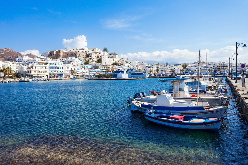 The port in Naxos