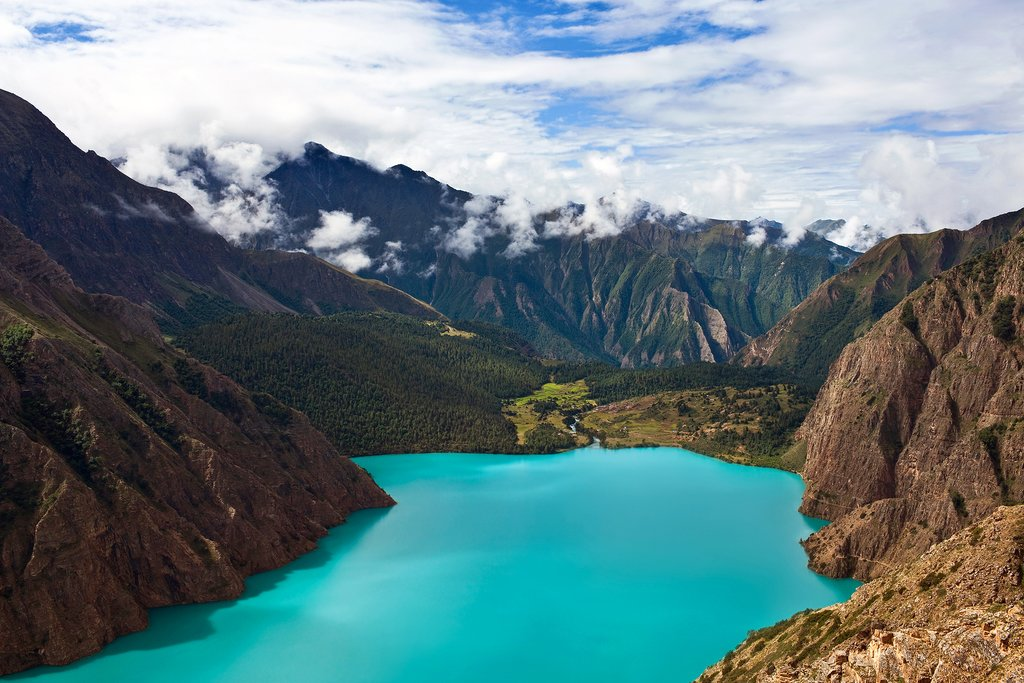 Phoksundo Lake in  Dolpo District