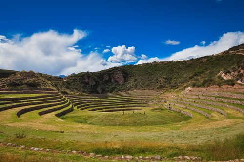 The historic site of Moray, where the Incas experimented in crop production.