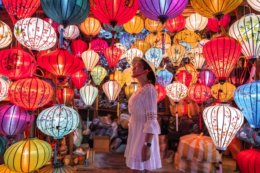 Lantern market in Hoi An