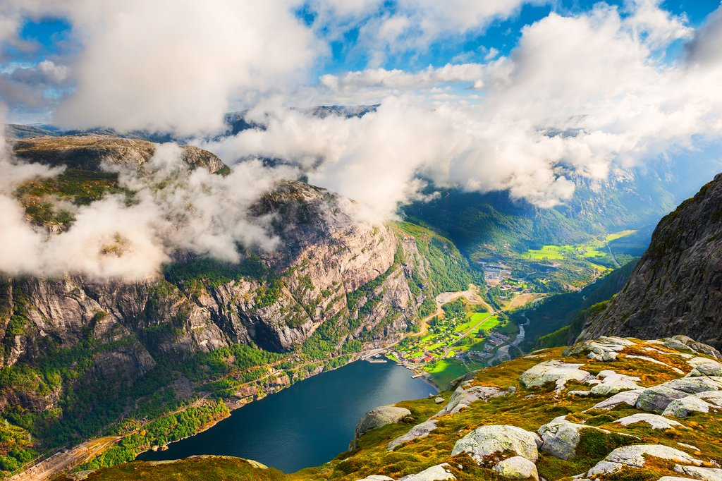 Get plenty of views of the Lysefjord during two day-hikes