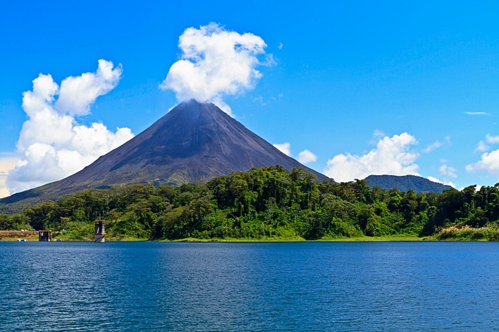 Arenal Volcano, an active stratovolcano in northwestern Costa Rica