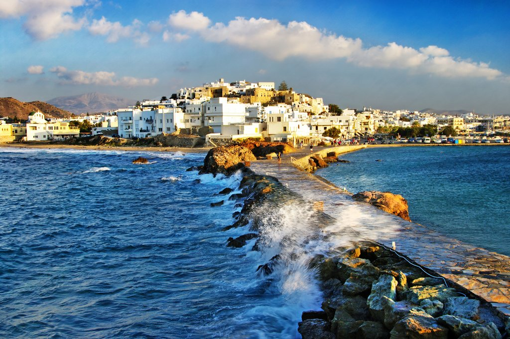 Looking toward Naxos town