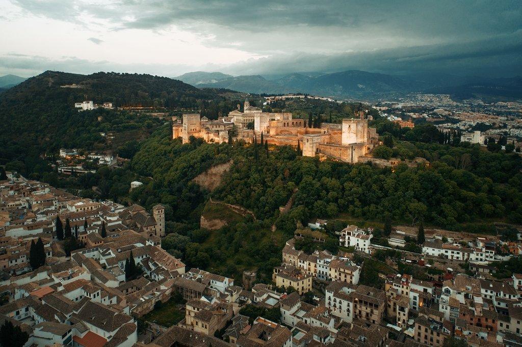 Aerial Views of Granada, Spain