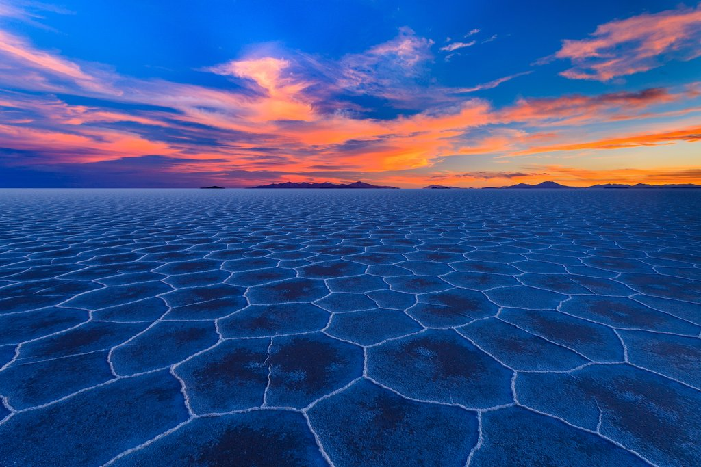 The UNESCO-listed salt flats across Chile's border in Bolivia