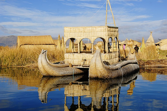 Reed boats on Lake Titicaca