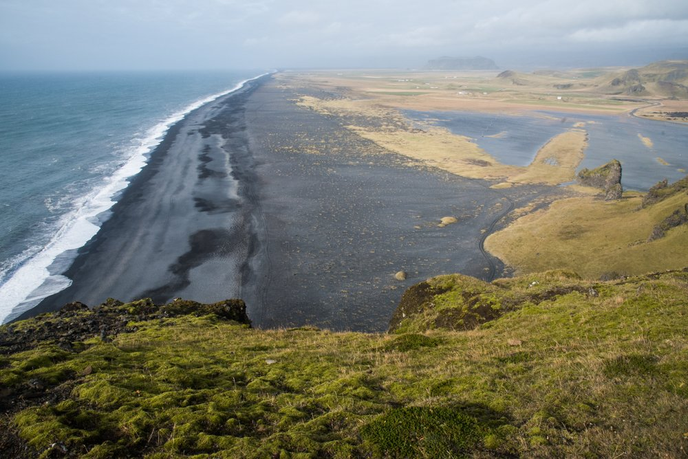 A view along the black sand beaches near Vik (photo by Chris McCarty)
