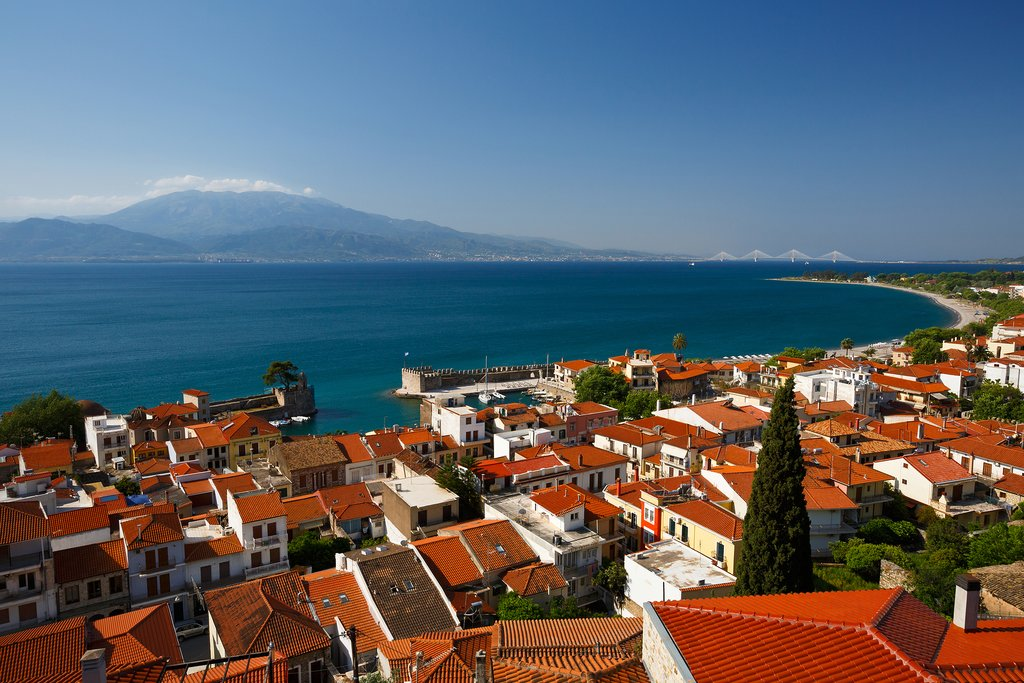 The historic red roofs of Nafpaktos