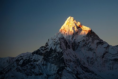 "Ama Dablam (22,349 ft / 6,812 m) translates as ""Mother's necklace"""