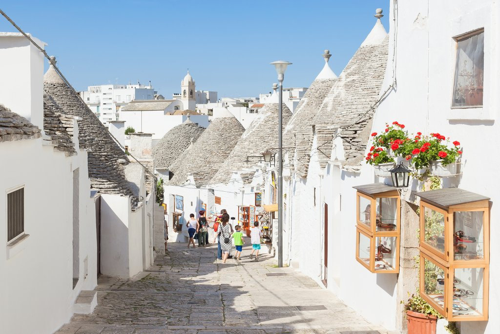 Street in the old town of Alberobello